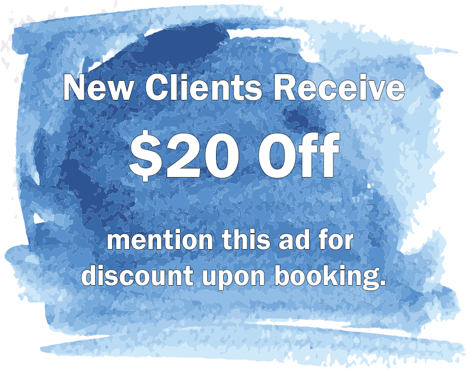 New clients receive $20 off